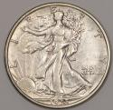 1935-S Walking Liberty Half Dollar; Choice AU