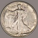 1935-S Walking Liberty Half Dollar Choice AU+