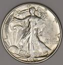 1935-D Walking Liberty Half Dollar; Choice AU-BU