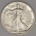 1934-S Walking Liberty Half Dollar; Choice AU +