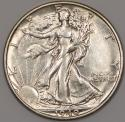 1940-S Walking Liberty Half Dollar; Choice AU
