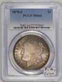 1878-S Morgan Dollar PCGS MS-64; Premium Quality, Color!