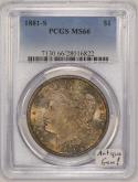 1881-S Morgan Dollar PCGS MS-66 Antique Toned Gem!