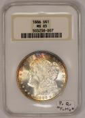 1886 Morgan Dollar NGC MS-65; Premium Quality,