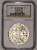 2001-D Buffalo Silver Dollar NGC MS-69