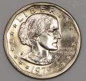 1979-P Near Date, Wide Rim Susan B. Anthony Dollar; Choice BU