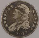 1817 Capped Bust Half Dollar; Nice Orignal F-VF; O-111