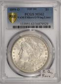 1899-O Micro O Morgan Dollar PCGS MS-62; VAM-5, Top-100; Premium Quality; RARE!!!