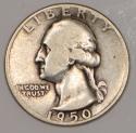 1950-D/S Washington Quarter; Nice Original F; FS-601
