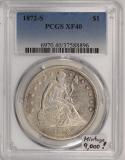 1872-S Seated Liberty Dollar PCGS XF-40; Mintage 9,000!