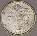 1890 Morgan Dollar; Nice AU