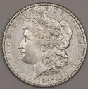 1887/6 Morgan Dollar; Nice XF+; VAM-2, Top-100; Popular Overdate Variety!