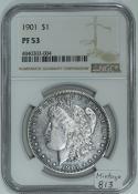 1901 Proof Morgan Dollar NGC PF-53; Mintage 813