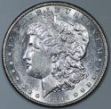 1897-S Morgan Dollar; Flashy Choice AU-BU