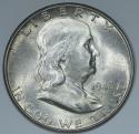 1948-D Franklin Half Dollar; Original Choice Uncirculated+ ; Nice Light Toning