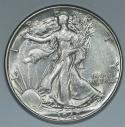 1942 Walking Liberty Half Dollar; Choice AU