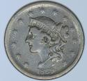1839 Silly Head Large Cent; VF; N-4 Variety