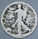 1916-D Walking Liberty Half Dollar; AG