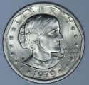 1979-P Near Date, Wide Rim Susan B. Anthony Dollar; Nice BU
