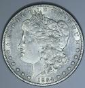 1884-S Morgan Dollar; AU; Tough Date!