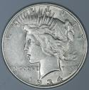 1934-S Peace Dollar; Lustrous XF-AU; Key Date!