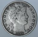 1898 Barber Half Dollar; Nice Original F+/VF