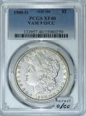 1900-O/CC Morgan Dollar PCGS XF-40; VAM-9, Top-100; Rarest O/CC