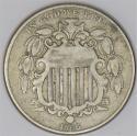1866 Rays Shield Nickel; Nice Original F-VF