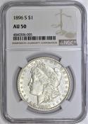 1896-S Morgan Dollar NGC AU-50
