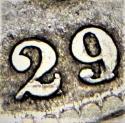 1829/7 Capped Bust Half Dollar; F+/VF; O-101a Variety