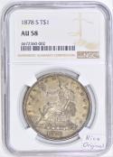 1878-S Trade Dollar NGC AU-58; Nice Original