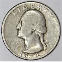 1932-D Washington Quarter; Nice Original F; Key Date!