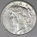1923-D Peace Dollar; Choice AU-BU