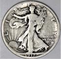 1917-S Obverse Walking Liberty Half Dollar; Nice Original VG+