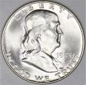 1953-D Franklin Half Dollar; Choice BU+ F.B.L.; Nice White