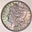 1896 Morgan Dollar; Uncirculated; Nice Original Tone