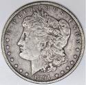 1891-CC Morgan Dollar; XF
