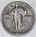 1918-S Standing Liberty Quarter; VF