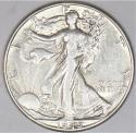 1946-D Walking Liberty Half Dollar; Choice AU