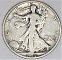1918-S Walking Liberty Half Dollar; Nice Original F