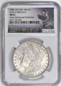 1882 O/S Morgan Dollar NGC MS-61; VAM-5, Broken S, Top-100; Great Northwest Collection Label