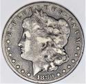 1880-CC Morgan Dollar; Nice Original F