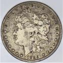 1890-CC Morgan Dollar; F
