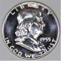 1955 Franklin Half Dollar; Gem Proof