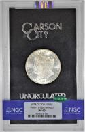 1878-CC GSA Morgan Dollar NGC & CAC MS-62 in Black Box with Card; VAM-11, Top-100