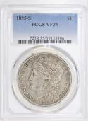 1895-S Morgan Dollar PCGS VF-35