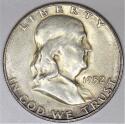 1952-S Franklin Half Dollar; Choice AU-Unc.; Nice Original