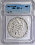 1900-O/CC Morgan Dollar ICG VF-20; VAM-8A, Top-100