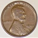 1924-D Lincoln Wheat Cent; Nice F