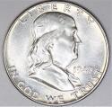 1949 Franklin Half Dollar; Choice AU-BU